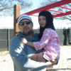 Wael and his daughter Salma