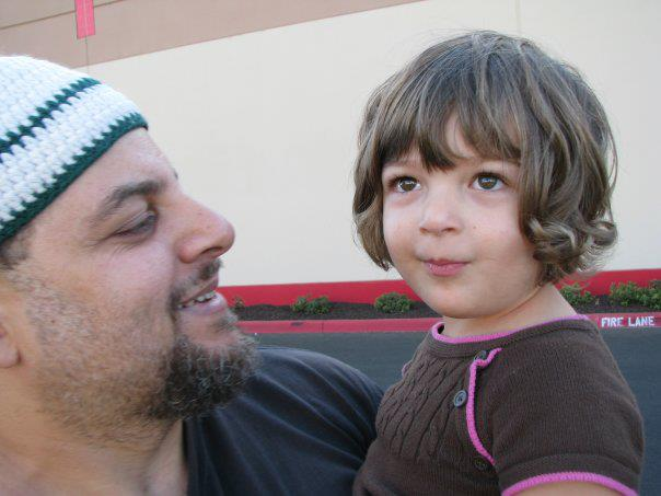 Wael and his daughter